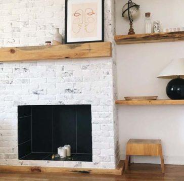 idees de decoration pour la maison de cheminee en brique